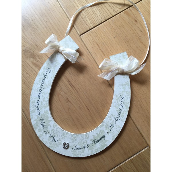 Luxury Printed Goodluck Wedding Horseshoe
