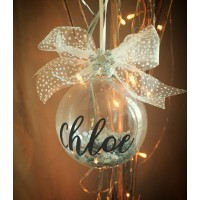Personalised Sparkling Filled Sequin Glass Bauble
