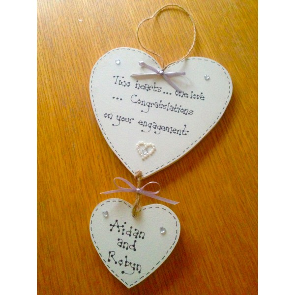Engagement Hanging Hearts Set