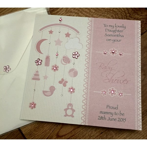 Cute Hanging Mobile Design Baby Card