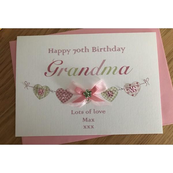 Embellished Bunting Birthday Card