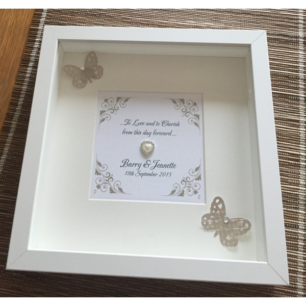To Love and to Cherish Butterfly Frame