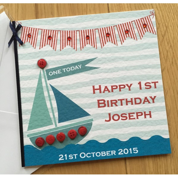 Sailing Theme Children's Birthday Card