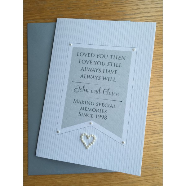 Crisp White Special Memories Valentine's Day card