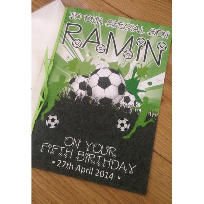Football Themed Male Birthday Card