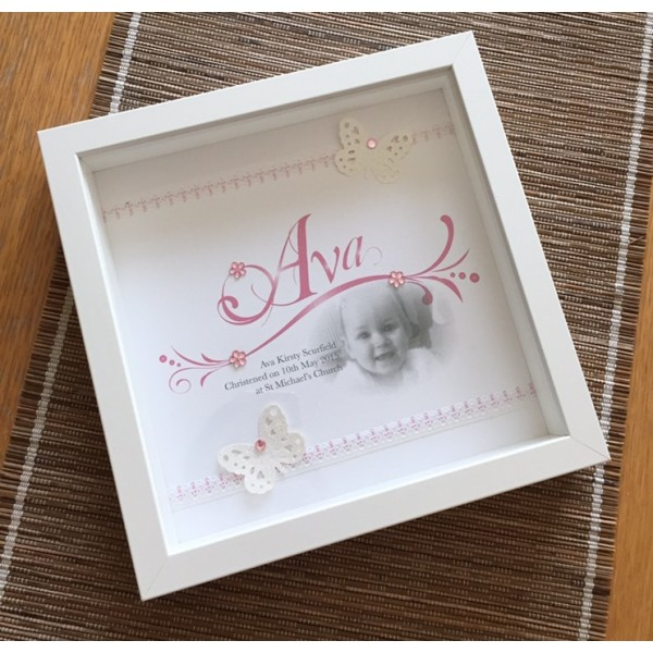 Butterfly Name Frame with Picture