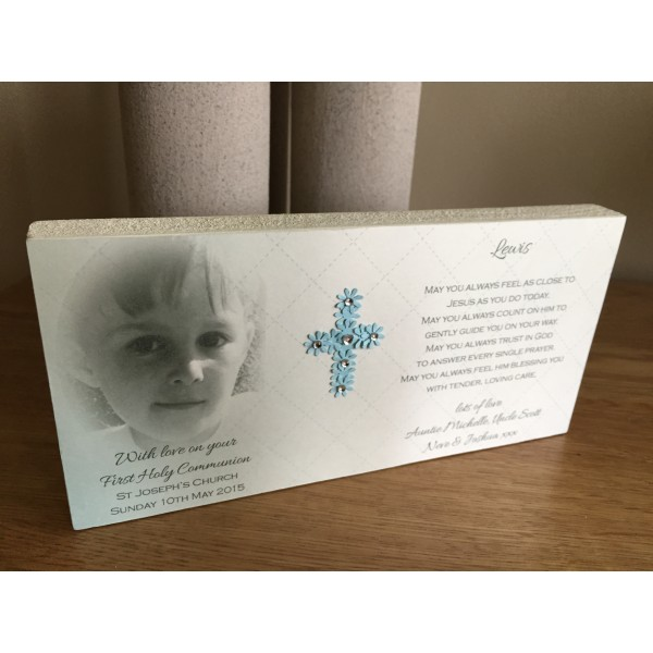 Holy Communion Freestanding Picture Block