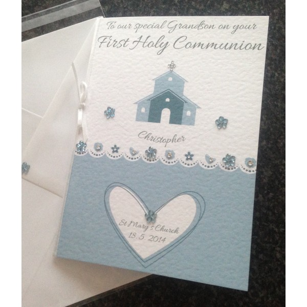 Large Church Themed Christening / Holy Communion Card