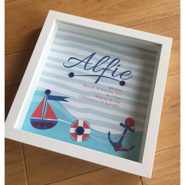 Sailing Nautical Themed Children's Personalised Name Frame