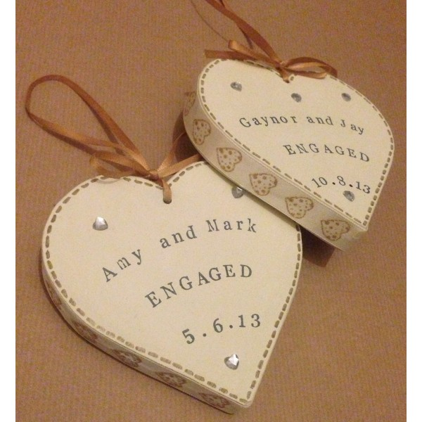 Chunky Engagement / Wedding Small Heart