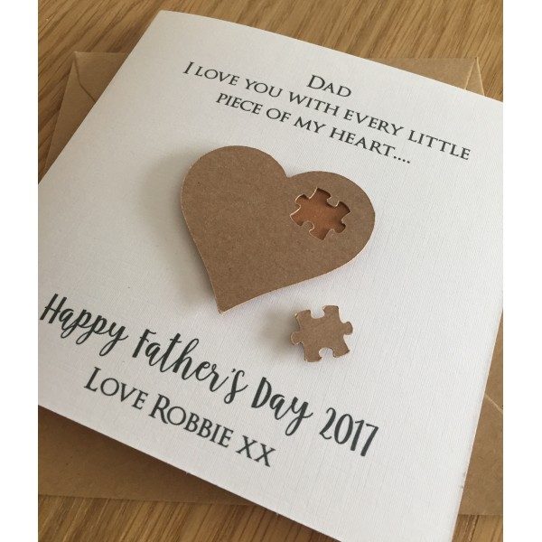 Father's Day 'Every piece of my heart' jigsaw card