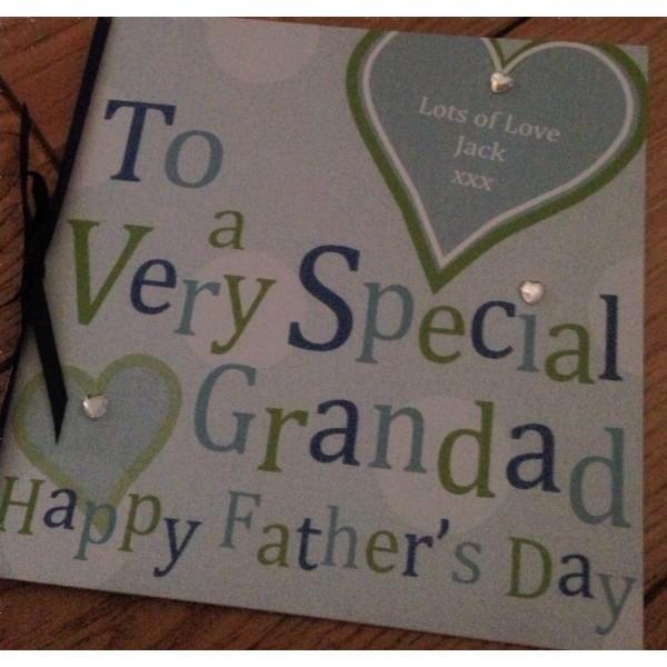 Funky Font Grandad or Dad Card