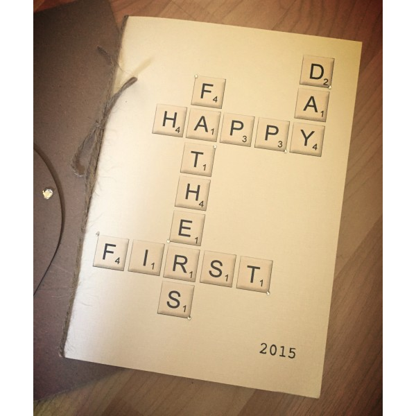 Scrabble Letters Father's Day Card
