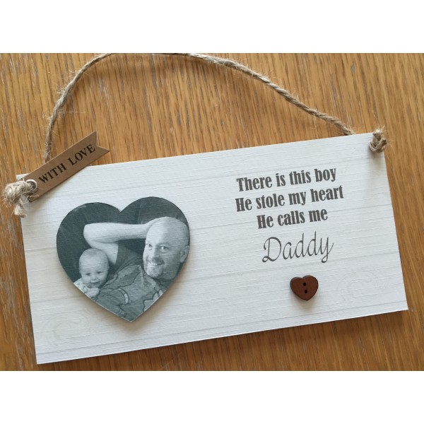 'He Stole my Heart' Daddy Son Plaque