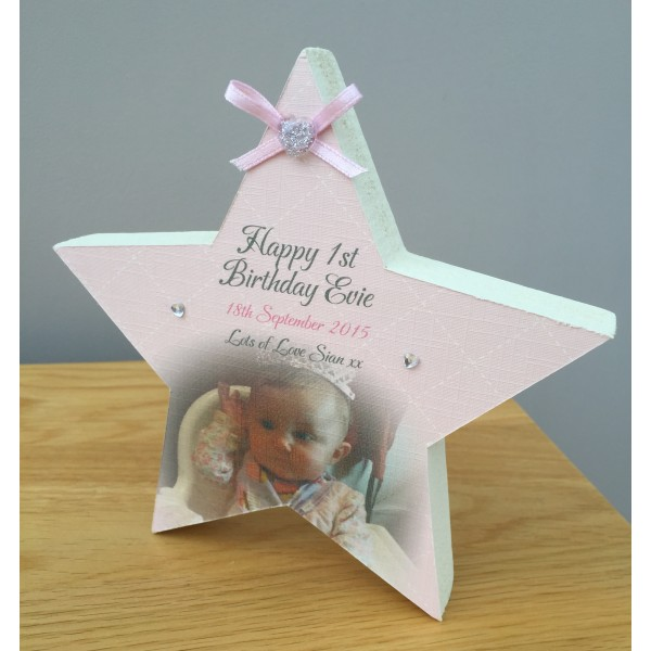 Children's Happy Birthday Freestanding Picture Star