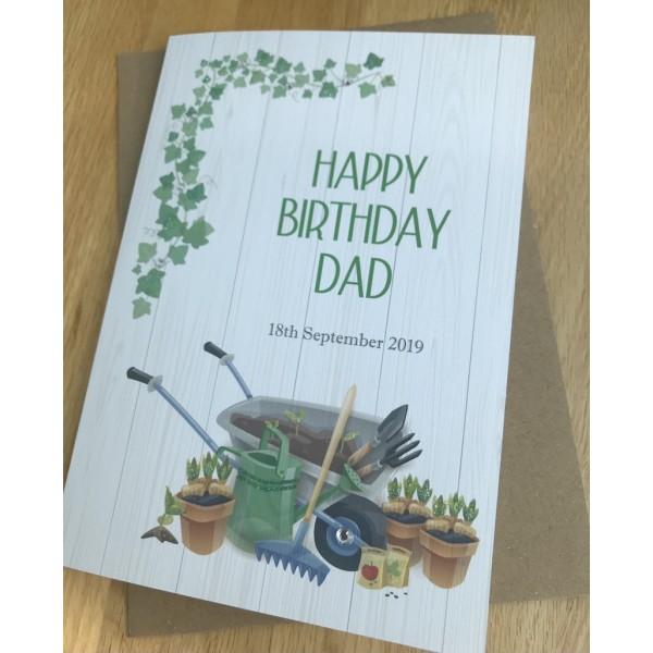 Male Gardener Themed birthday card