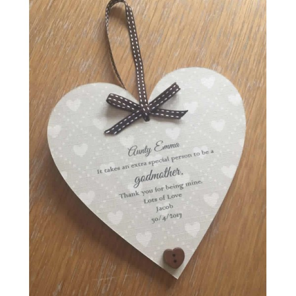 Godparents neutral 'heart themed' heart