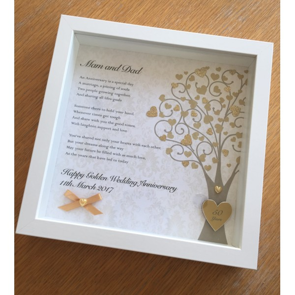 Anniversary Poem Frame with Heart Tree
