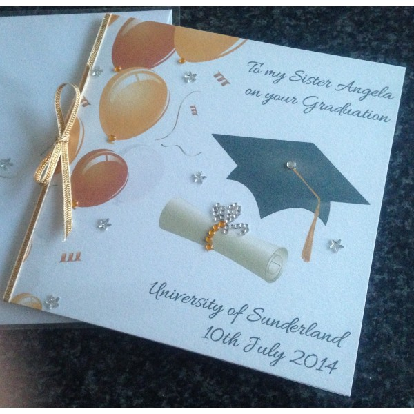 Cap and Scroll Sparkling Graduation Card