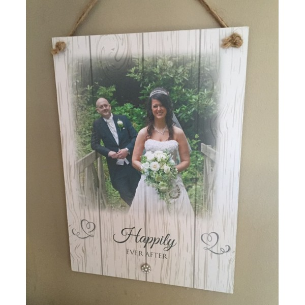 Happily Ever After Anniversary plaque