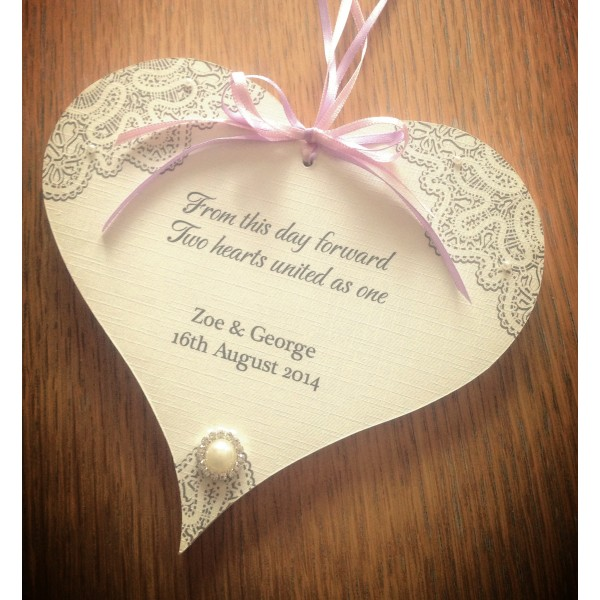 Lace Effect Style Wedding Heart