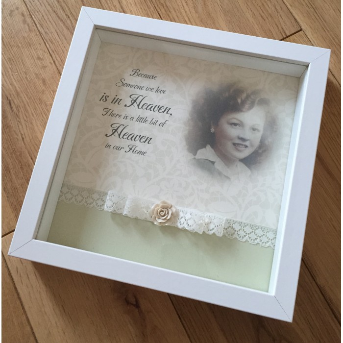 Someone In Heaven Personalised Photo Frame In Loving Memory Picture