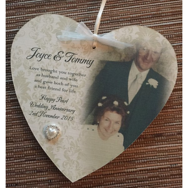 Traditional Wedding Anniversary Poem and Photo Heart