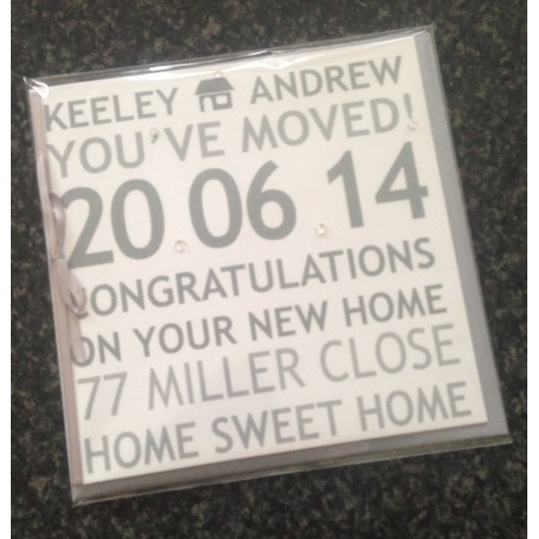 Contemporary 'You've Moved' New Home Card