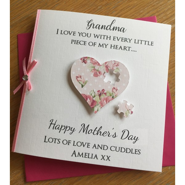 Mother's Day or birthday Every piece of my heart jigsaw card