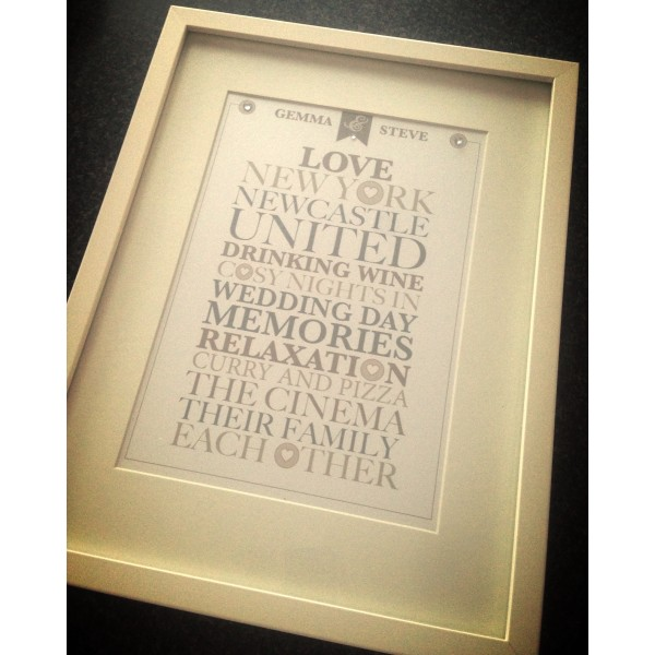 Couple 'Things we love' Frame