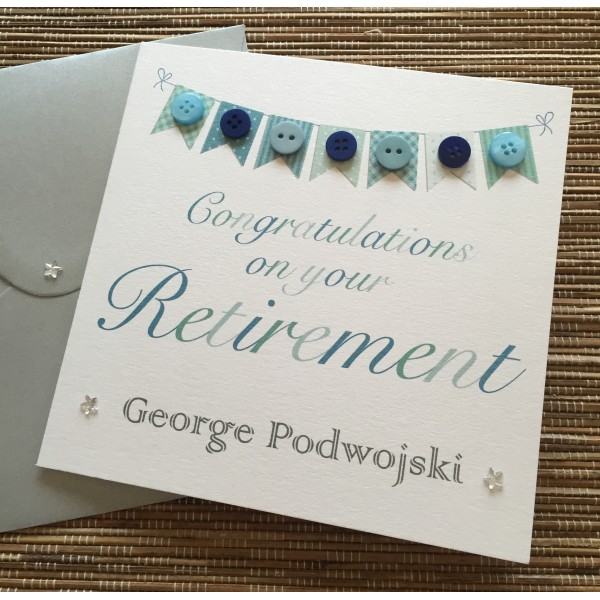 Retirement Bunting Themed Card