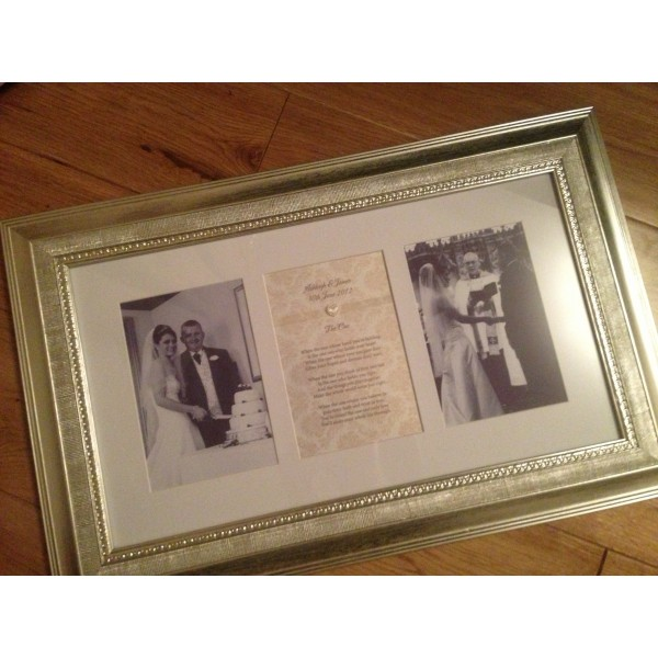 Anniversary Three Part Poem Frame