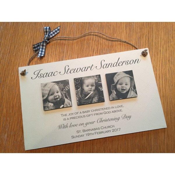 The joy of a baby Photo christening plaque