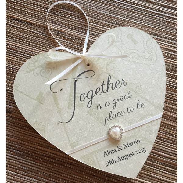Together is a great place to be heart