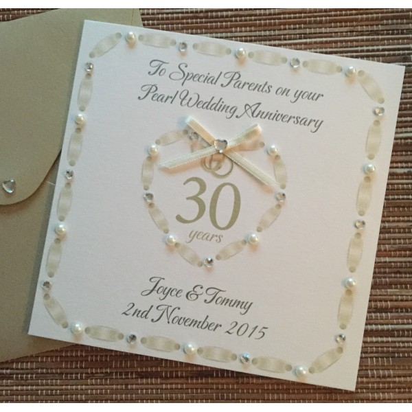 Special Anniversary Weaved Heart Card
