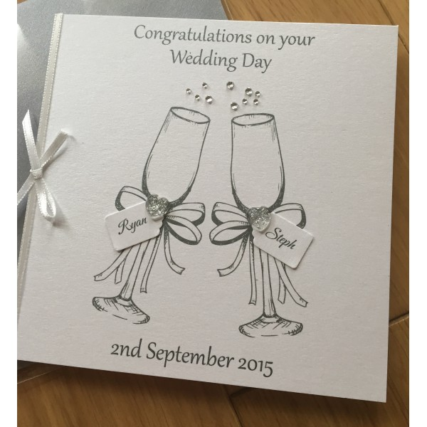Celebration Double Champagne Flutes Card