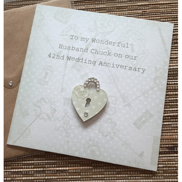 Key to my Heart Anniversary Card