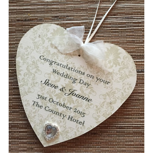 Traditional Style Wedding Keepsake Hanging Heart