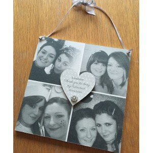 Thank You Bridesmaid / Flowergirl picture plaque