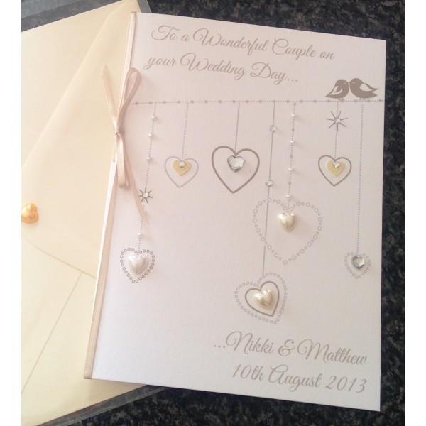 Hanging Hearts 'Lovebirds' Card